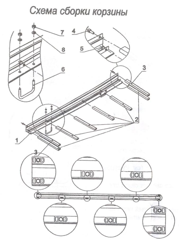 Сборка и установка на багажник грузовой корзины Атлант